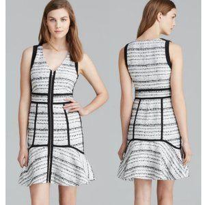 Rebecca Taylor Tweed Boucle Raffia Zipper Dress 6